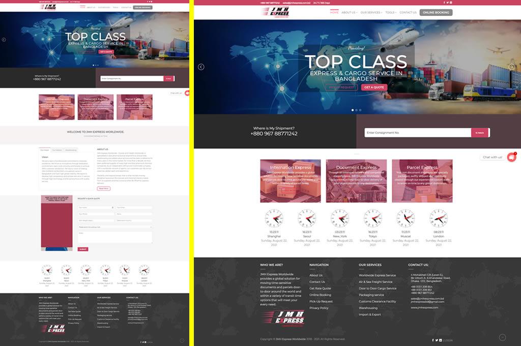 STM Developed site jmhexpress.com