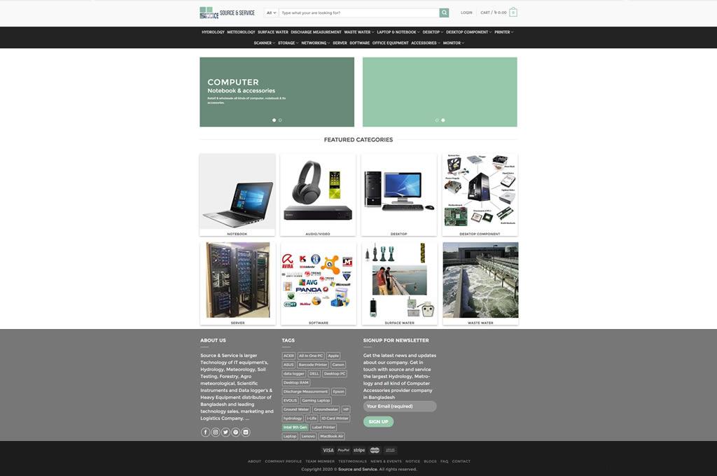 STM Developed site sourceandservice.com